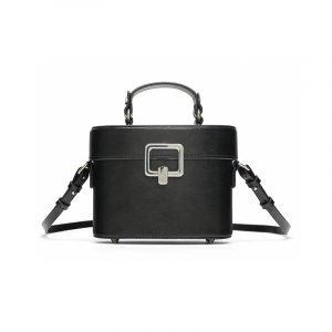 Schwarze Box Bag