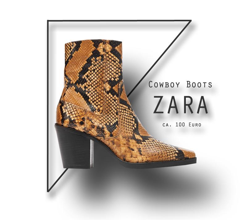 Cowboy Boots mit Snake Print