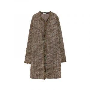 Brauner Tweed Mantel