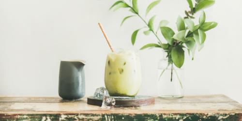 matcha ice latte