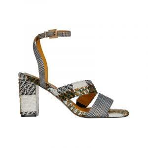 Sandale aus Tweed