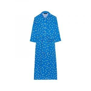 produktbild weiß blaues polka dot kleid