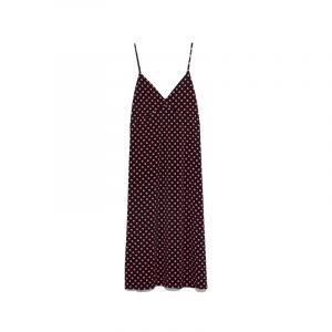 produktbild rot schwarzes polka dot kleid
