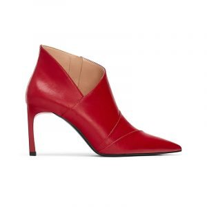 Rote Ankle Boots