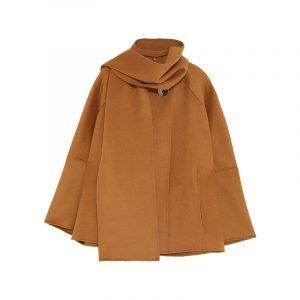 Cape Coat in Braun