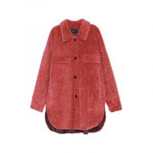 Rotes Plüsch-Hemd