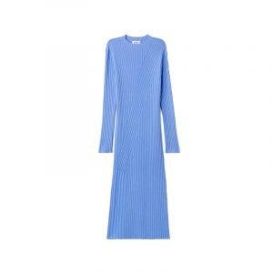 Blaues Rippstrick Kleid