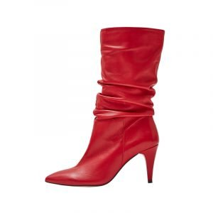 Rote Slouch Stiefel