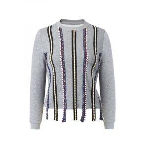 Sweatshirt mit Borten