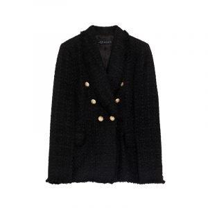 Schwarzer Cape Coat