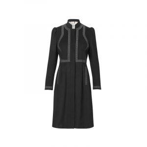 Schwarzes Western-Kleid