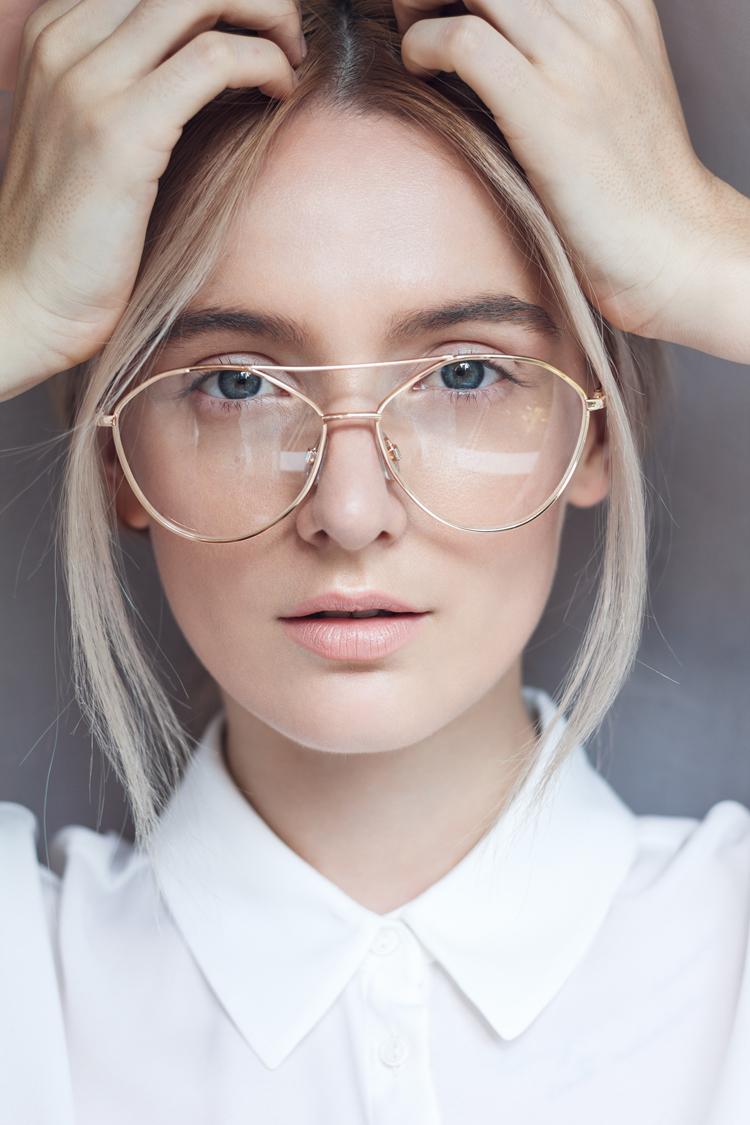 schminken mit brille