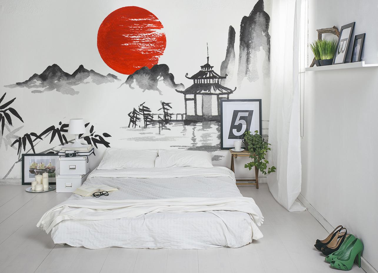Fototapete im Schlafzimmer