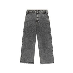 weite schwarze verwaschene jeans in acid wash
