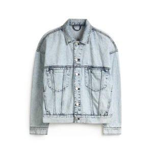 helle verwaschene jeans jacke