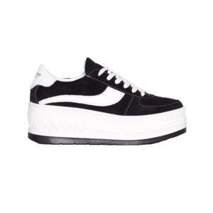 plateau sneaker in schwarz und weiß
