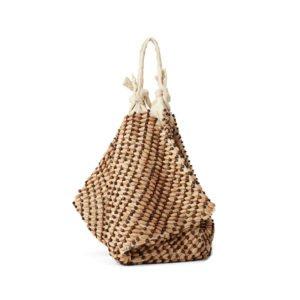 beutel-tasche aus holz-perlen