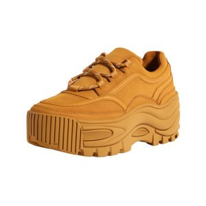 ugly sneaker mit plateau-sohle in camel