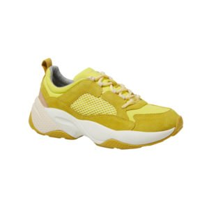 ugly sneaker in gelb mit weißer sohle