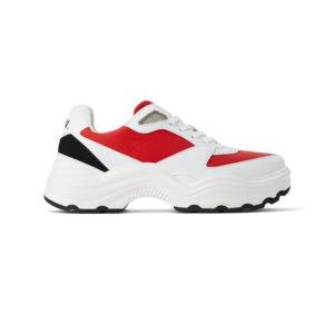 ugly sneaker in weiß, schwarz, rot von zara