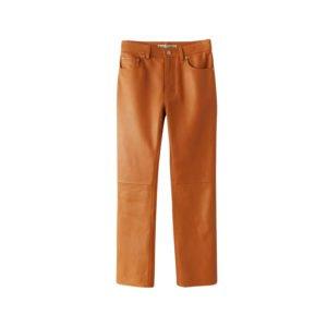 lederhose in orange