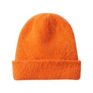 orangefarbene wollmütze
