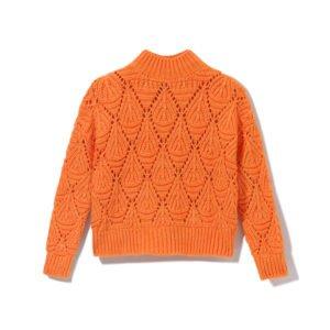 strickpullover in orange