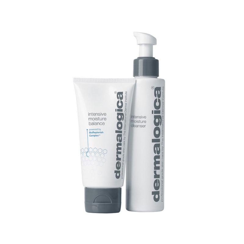 produktabbildung des dermalogica intensive moisture balance moisturizer und cleanser