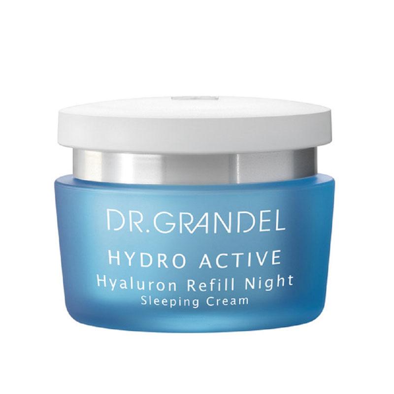 produktabbildung der hydro active sleeping cream von dr. grandel