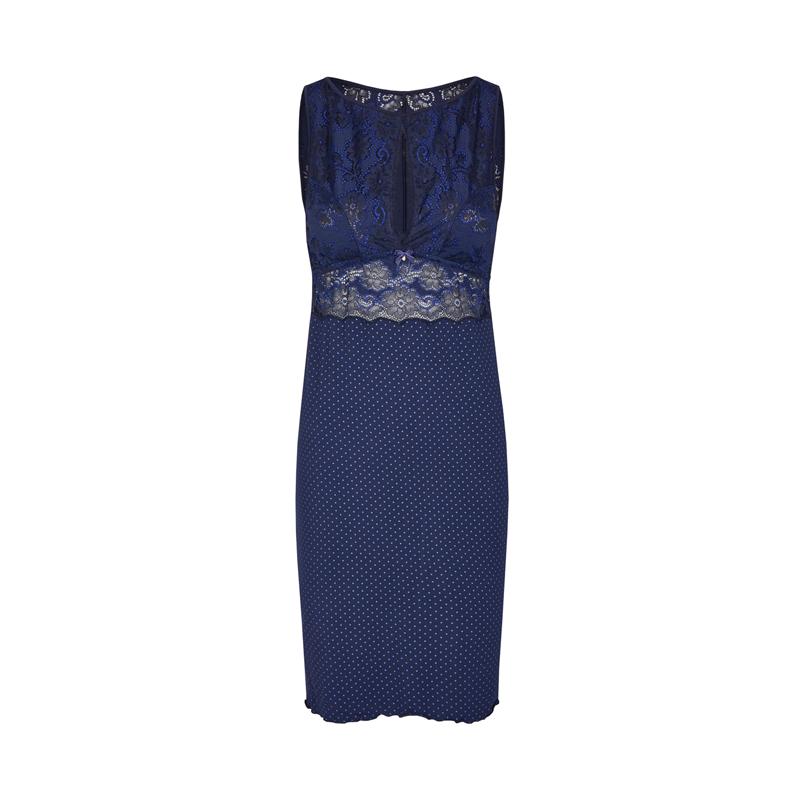 produktabbildung elegantes nachthemd in dunkelblau von nina von c