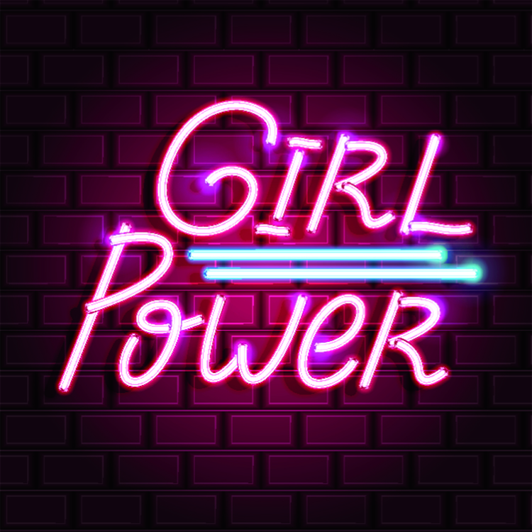 girl power leuchtschrift