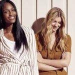zwei models tragen modische kleidung aus leinen