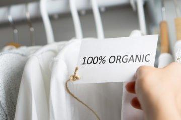 kleiderstange mit schild 100 prozent organic
