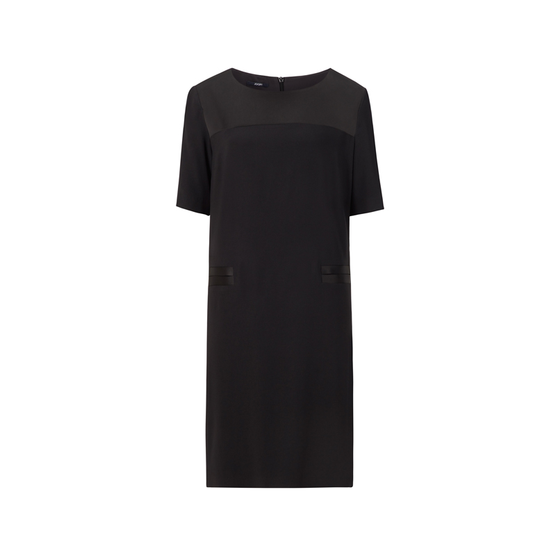 produktabbildung eines schwarzen shirtkleids der marke joop