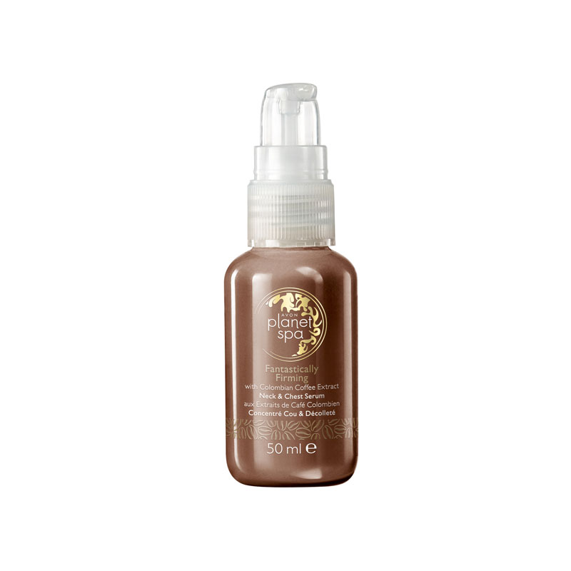 produktabbildung des fantastically firming neck and chest serum von avon planet spa