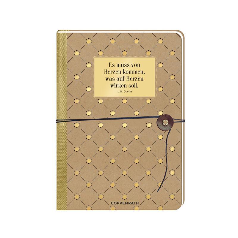 produktabbildung notizbuch mit spruch auf dem cover von coppenrath