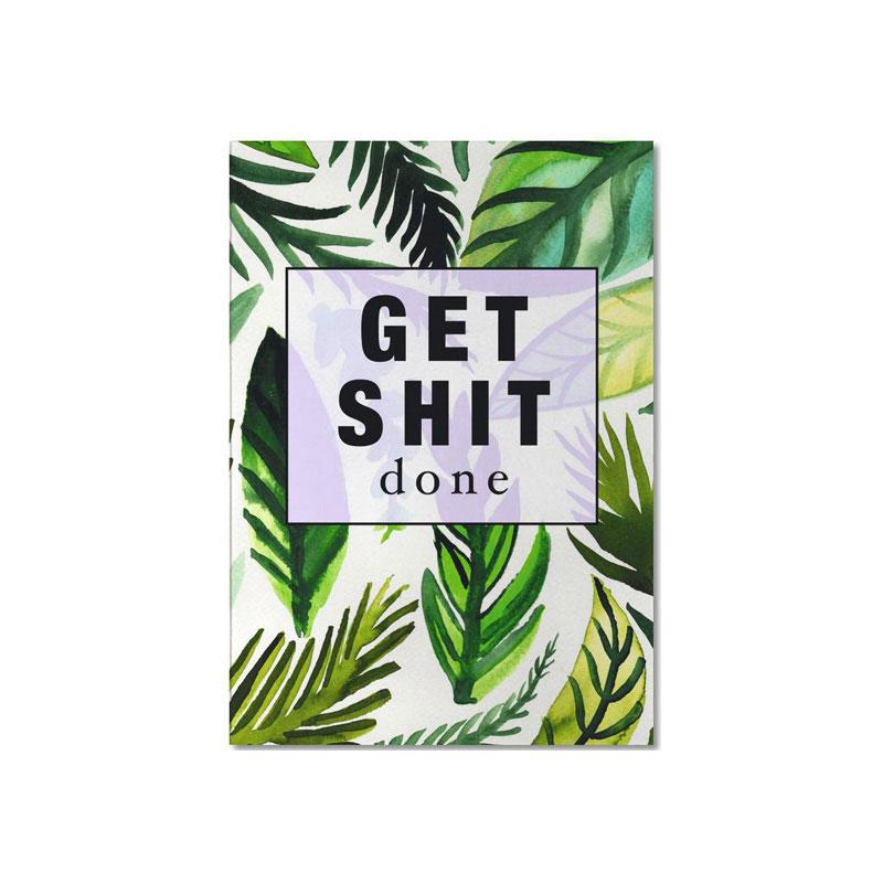 produtkabbildung notizbuch mit tropical print von junique