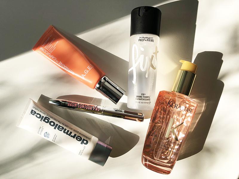 füngf beauty produkte auf tisch liegend