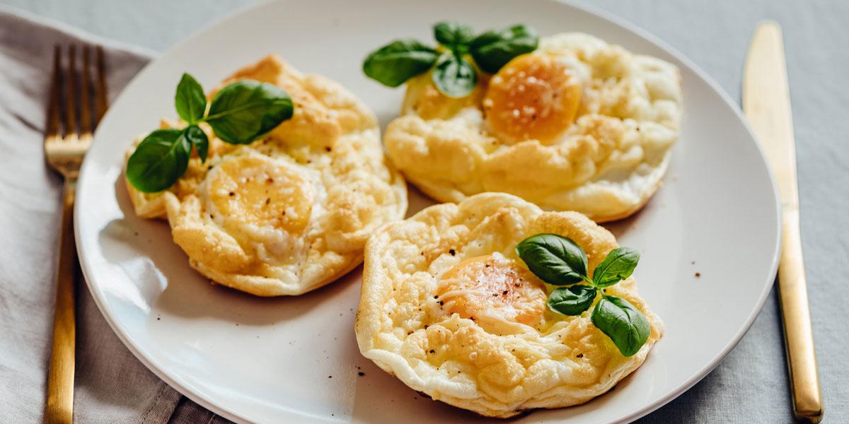 cloud eggs fruehstueck