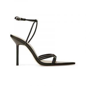 produktbild schwarze high heel riemchen-sandale