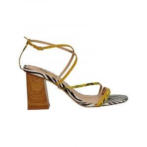 produktbild riemchen-sandale mit zebra-muster