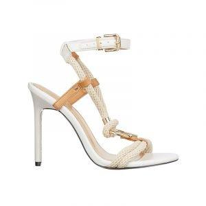 produktbild weiße riemchen-sandale mit kordeln