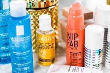 verschiedene beauty-produkte