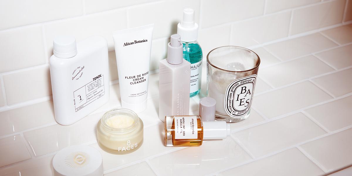 beauty produkte im badezimmer