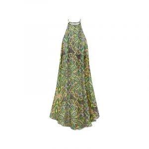 produktbild langes kleid mit paisley muster