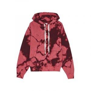 produktbild roter batik hoodie