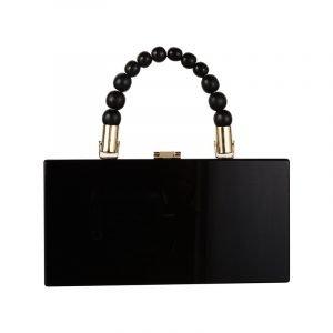 produktbild schwarz kleine henkeltasche mit perlen