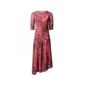 produktbild rotes kleid mit porzellan-print