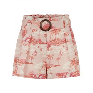 produktblid shorts mit porzellan-print