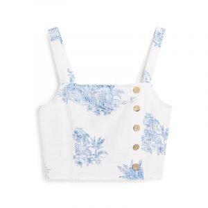 produktbild weißes top mit blauem porzellan-print